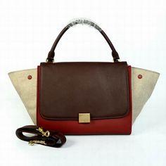 factory bags outlet qmpo  Celine Bag Trapeze in Multicolor Calfskin 91101 [celine_63]