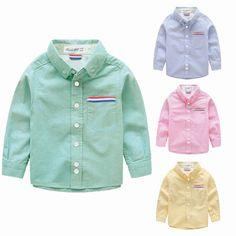 Boys Shirts Cotton Fashion Children Clothing High Quality School Uniform Shirt 2017 Brand Boy Shirts Spring Autumn Kids Clothes