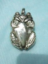 Vintage Vesta Figural Frog Match Safe Silver