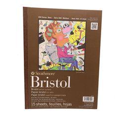 "Strathmore 400 Bristol vellum surface pad 9 x12"" sheets"