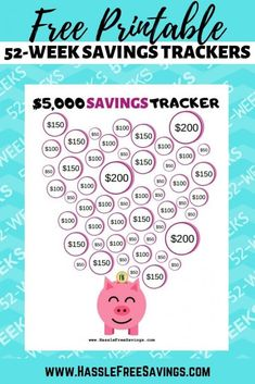 These free printable money challenge charts will help you track your savings. Color in or check off your savings tracker each week for 52 weeks. 52 Week Money Challenge, Savings Challenge, Saving Money Chart, Money Saving Tips, Money Tips, Saving Ideas, 52 Week Savings, Savings Plan, Savings Chart