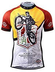 f3aed7ef4901b5 Thriller Rider Sports Uomo Feel in Your Wheels Sport e Tempo Libero  Abbigliamento Ciclismo Magliette Manica
