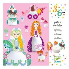 Djeco Princesses Playdough `One size Details : 3 Sheets with detachable forms, 2 pot(s) of modelling dough * Age : 3 to 6 years old * Box 16 x 16 x 5 cm. http://www.MightGet.com/january-2017-13/djeco-princesses-playdough-one-size.asp