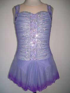 NEW FIGURE ICE SKATING TWIRLING BATON DANCE DRESS CHILD L   interesting pattern on the back - open the link and view the back under zoom