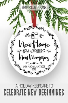 Get The Most Out Of Your Christmas Corporate Gifts – Gift Ideas Anywhere Housewarming Gifts For Couples, Housewarming Gift Ideas First Home, Housewarming Gift Baskets, First Home Gifts, New Home Gifts, House Ornaments, Xmas Ornaments, Personalized Christmas Ornaments, Real Estate Gifts