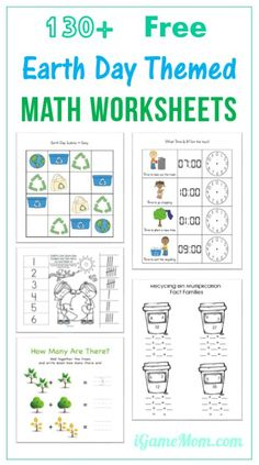 Wonderful resources of free Earth Day themed math worksheets for kids from preschool, kindergarten to elementary school age. The last one even allows you to generate more worksheets of the chosen template and content, such as two-digit addition.