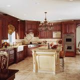 I like the arched kitchen door treatment.