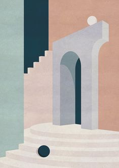 Barragan-inspired Illustrations by Charlotte Taylor – Trendland Online Magazine Curating the Web since 2006 Digital Illustration, Graphic Illustration, Graphic Art, Guache, Art And Architecture, Architecture Diagrams, Architecture Portfolio, Painting Inspiration, Abstract Art
