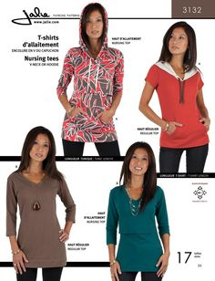 Jalie 3132 - Nursing Tees Pattern Cover