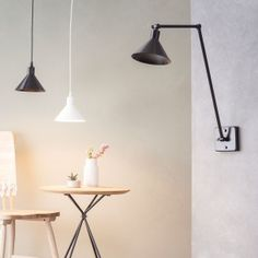 The Factory wall lamp and Factory Suspension lamp from Luz Difusion Living Room Accents, Home Accents, Design Shop, Wall Mounted Lamps, Wall Lights, Ceiling Lights, Ceiling Lamp, Aluminium, Desk Lamp