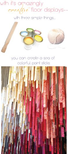 Anthro - paint stick window display