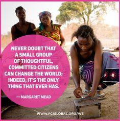Margaret Mead quote - Change the world! #women #empower