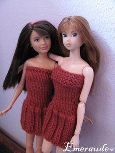 Tricot: Robe d'été n°6 pour Momoko / Skipper ou Barbie