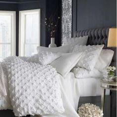 contemporary bedding white