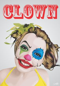 Poster Young Clown do Studio Wellington por R$55,00