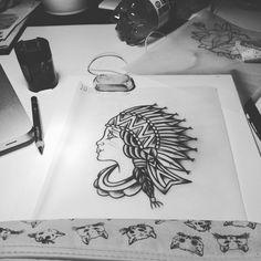 #woman #traditionaltattoo #oldschool #jj #jessicazegretti #jessupersonic #draw #tattoo