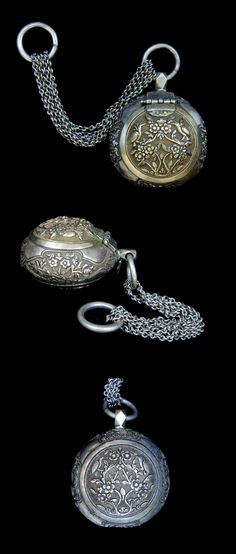 Indonesia - Java | Straits Chinese Tobacco container; silver and gilt silver. Used by betelnut chewers | ca. late 19th to early 20th century