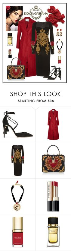 """Dolce & Gabbana Long Sleeve Fitted Dress"" by romaboots-1 ❤ liked on Polyvore featuring Dolce&Gabbana, ADAM and Zuhair Murad"