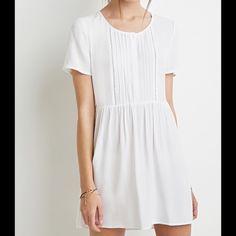 White Dress Cute chiffon dress with crochet details Forever 21 Dresses
