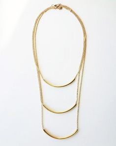 The Bar None Slim Necklace by JewelMint.com, $118.00