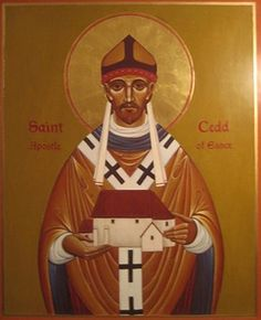 Cedd. (620-664 AD). Anglo-Saxon monk and a key member in the Synod of Whitby thanks to his linguistic skills in the negotiations. Brought up in Lindisfarne under the instruction of Aidan of the Irish Church. He also is known by being the evangelist of the Middle Angles, being sent by king Oswiu of Northumbria. He likewise converted the East Saxons and, as a reward, Finian of Lindisfarne appointed him bishop of the East Saxons.