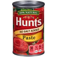 Hunt's® No Salt Added Tomato Paste 6 oz. Can