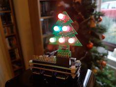RGB Christmas Tree on a Pi Zero by PocketMoneyTronics. #raspberrypi #pizero #christmas