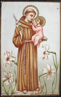 Oracion A San Antonio, Lord And Savior, Virgin Mary, Jesus Christ, Catholic, Blessed, Painting, Art, Saints