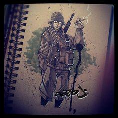 Soldier :: Copics practice by Red-J on DeviantArt Copic Marker Art, Copic Markers, Comic Book Artists, Comic Books, Copics, How To Take Photos, Master Chief, Ww2, Deviantart
