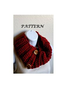 DIY Crochet Infinity Scarf Pattern  DIY Ribbed by BessiesCreations, $4.00