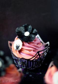 Mi Halloween en estado puro: Cupcakes de calabaza con chocolate y pistachos