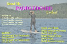 Kristen tried everything from paddling for speed to holding crow pose, and these were her faves, creating the ultimate SUP workout.