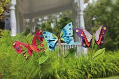 Bright Companions Butterfly Garden Stake,Metal ,11.5x30.5 Inches,Assorted 3 by Ashley. $74.99. Save 33% Off!