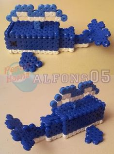 3D Whale hama beads by alfons05