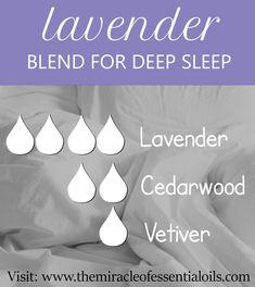lavender essential oil blend for sleep