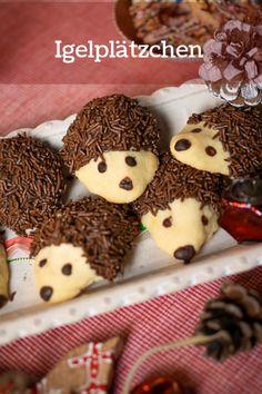 Hedgehog biscuit recipe with vanilla dough and chocolate sprinkles - # Hedgehog biscuit recipe . - Hedgehog biscuit recipe with vanilla dough and chocolate sprinkles - Easy Cheesecake Recipes, Easy Cookie Recipes, Pumpkin Cheesecake, Baking Recipes, Snack Recipes, Chocolate Sprinkles, Chocolate Coating, Chocolate Cookies, Vanilla Cookies