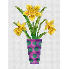 Check out this item in my Etsy shop https://www.etsy.com/listing/230574023/daffodils-in-a-vase-pdf-cross-stitch