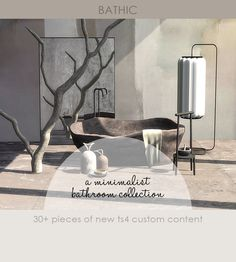 Sims 4 Mods Clothes, Sims Mods, Sims Packs, Jungle House, Sims 4 Gameplay, Sims House Plans, Sims 5, Concrete Bathroom, Sims 4 Cc Furniture