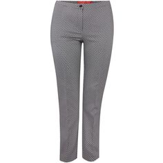 Marina Rinaldi Sparkle print tailored trouser (10.030 RUB) ❤ liked on Polyvore featuring pants, clearance, navy, patterned trousers, navy blue pants, patterned pants, pleated trousers und sparkly pants