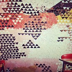 Eye Candy: The Wild, Wacky Wonderful World of Kelly Wearstler: We are obsessed with this tiled wallpaper.