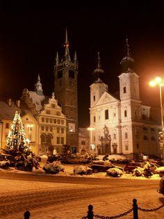 Winter in Klatovy. Czech Republic