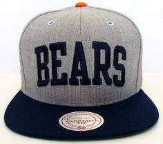 Chicago Bears Mitchell & Ness Block Wool Snapback Cap Hat . $29.99. Brand new snapback cap. Embroidered team logos. Snapback design. One Size Fits Most.