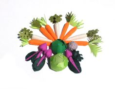 Felt Textile Vegetables Burlap Sack Toy Fabric Veggies For Kids Montessori Toy Pretend Food Carrots Parsnips Celeriac Beetroots Cabbage - pinned by pin4etsy.com