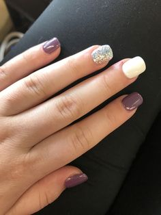 Probably not purple but love this autumn nails, spring nails, winter nails, fancy Spring Nails, Winter Nails, Summer Nails, Autumn Nails, Wedding Nail Colors, Wedding Nails Design, Dipped Nails, Manicure E Pedicure, Nagel Gel