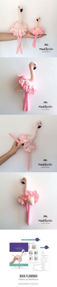 Maia Flamingo amigurumi pattern