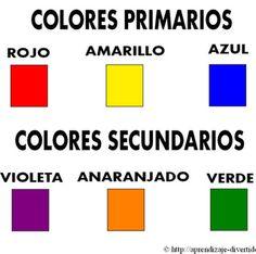 Imprimible de colores primarios y secundarios.