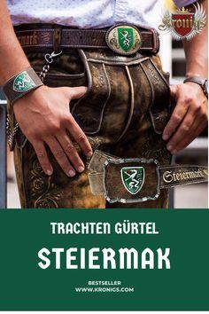 Ein Dream Team!💖 Dieser Steiermark Gürtel ist der perfekte Match zur Lederhose. Ein starker Rindsleder Gürtel für alle Steiermark Fans. Ein seitlich eingeprägter Schriftzug verleiht dem Gürtel eine zusätzliche edle Optik. Bracelets, Jewelry, Fashion, Crests, Script Logo, Moda, Jewlery, Bijoux, Fashion Styles