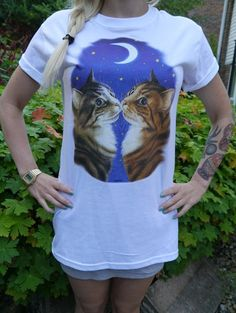 Wildlife Two Cat & Sailor Moon Cat tshirt Cat top Cat by WLCSHOP, £9.99