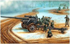 Dragon 6411 German Kanone 18 for sale online Military Diorama, Military Art, Military History, Diorama Militar, Afrika Korps, Ww2 Tanks, Military Equipment, German Army, Armored Vehicles