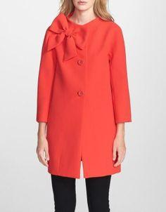 bow Kate Spade coat.